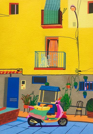 Spanish Street 260mm W x 347mm H