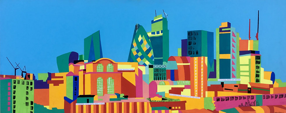 London Skyline 558mm W x 222mm H