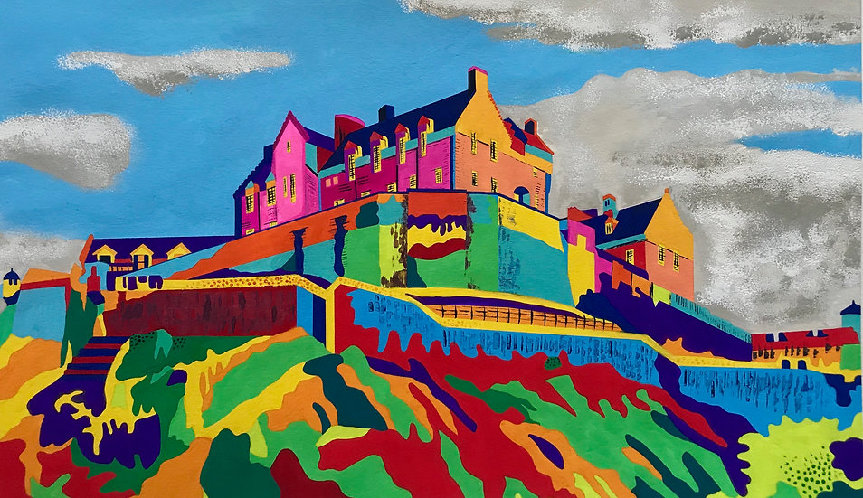Edinburgh Castle 420mm W x 270mm H