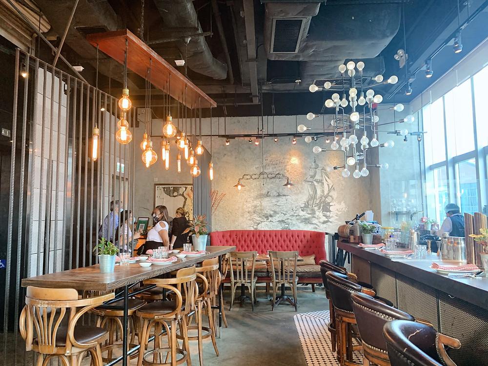 Pirata Italian restaurant in Hong Kong