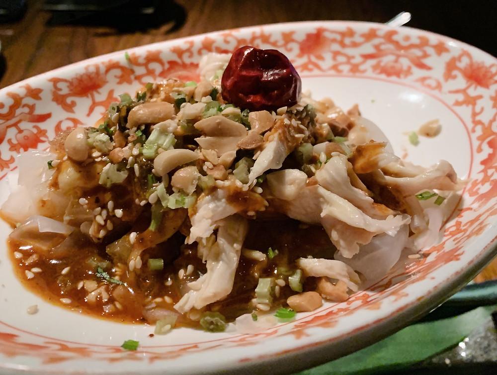 Chicken at Hutong restaurant in Hong Kong