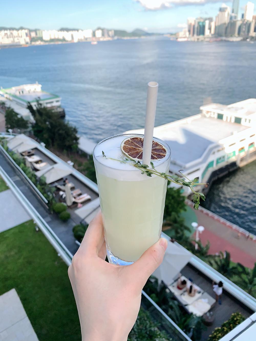 Cocktail at Red Sugar bar at Kerry Hotel Hong Kong