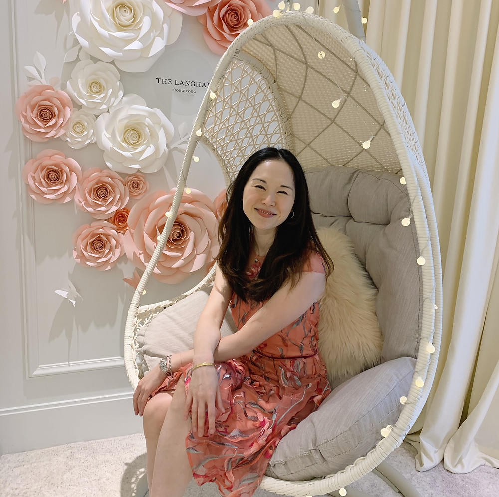 Jenni Lien blogger at The Langham Hotel Hong Kong