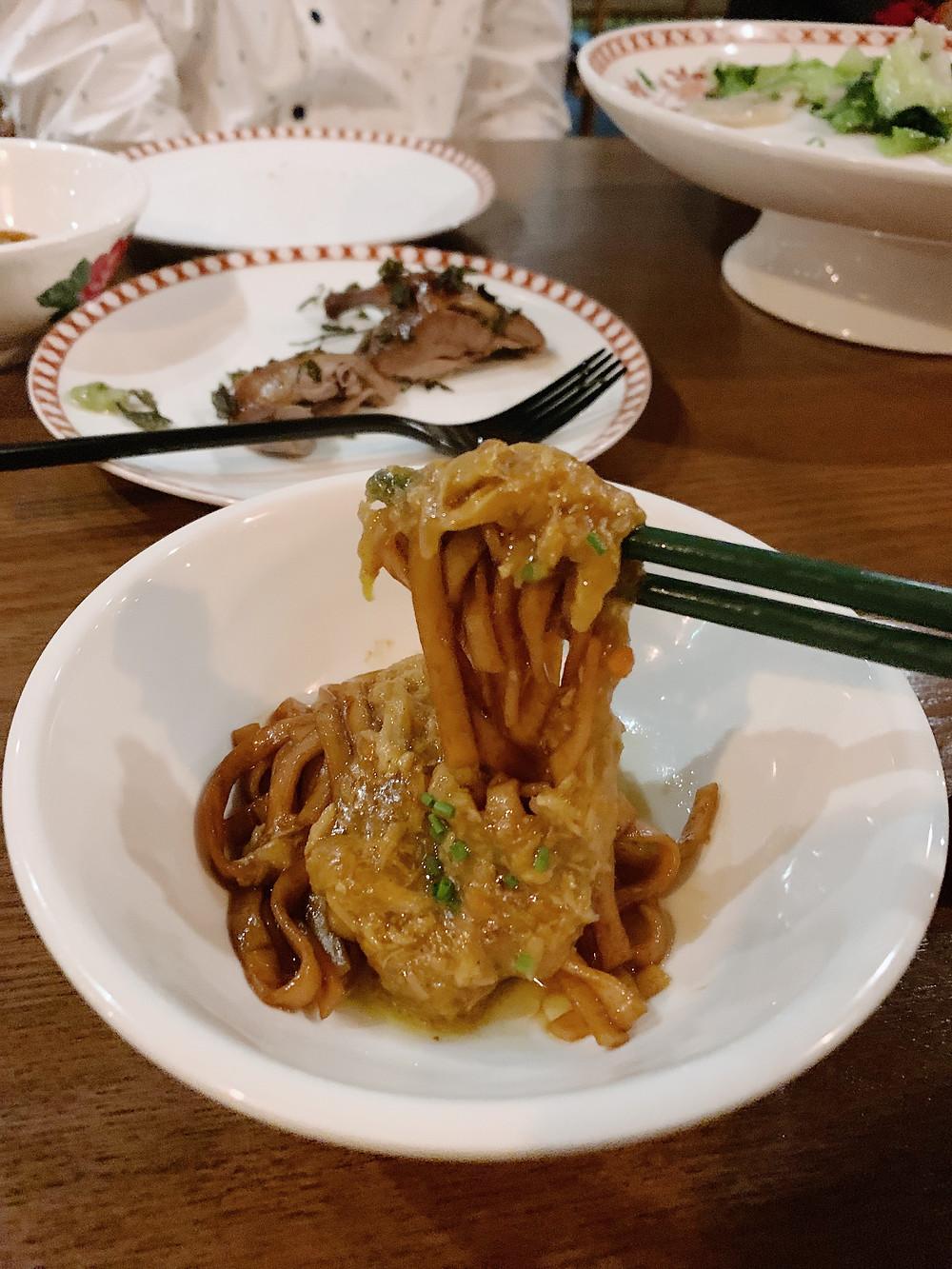 Food at Old Bailey restaurant in Hong Kong