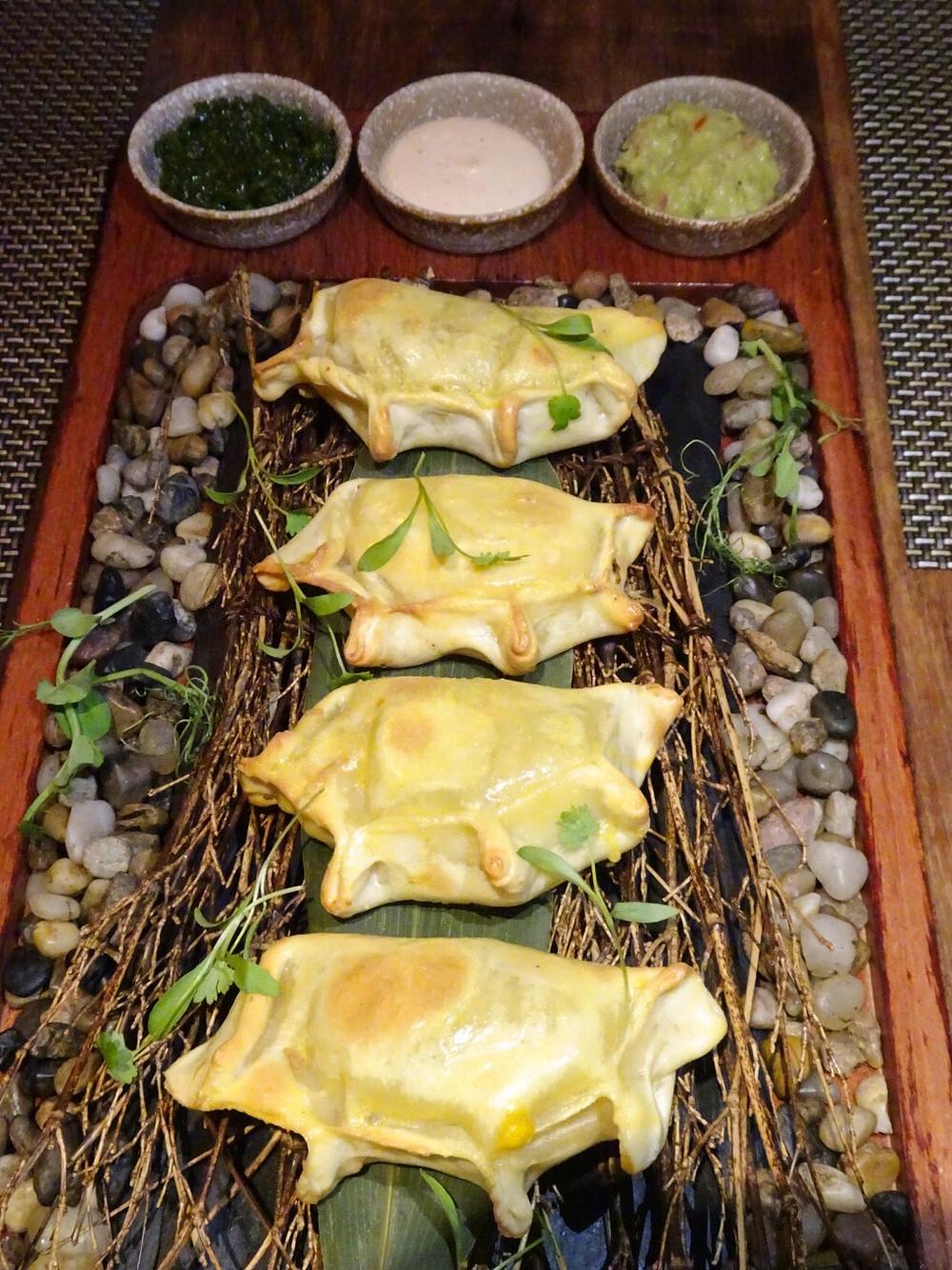 Food at Picada Latin American restaurant in Hong Kong