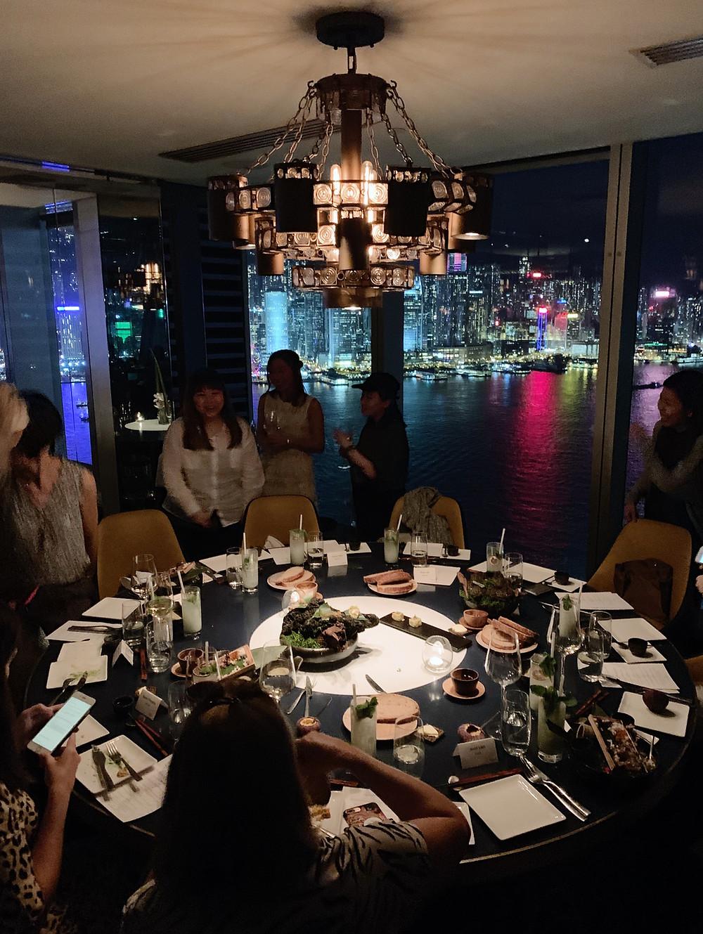 Aqua restaurant in Hong Kong