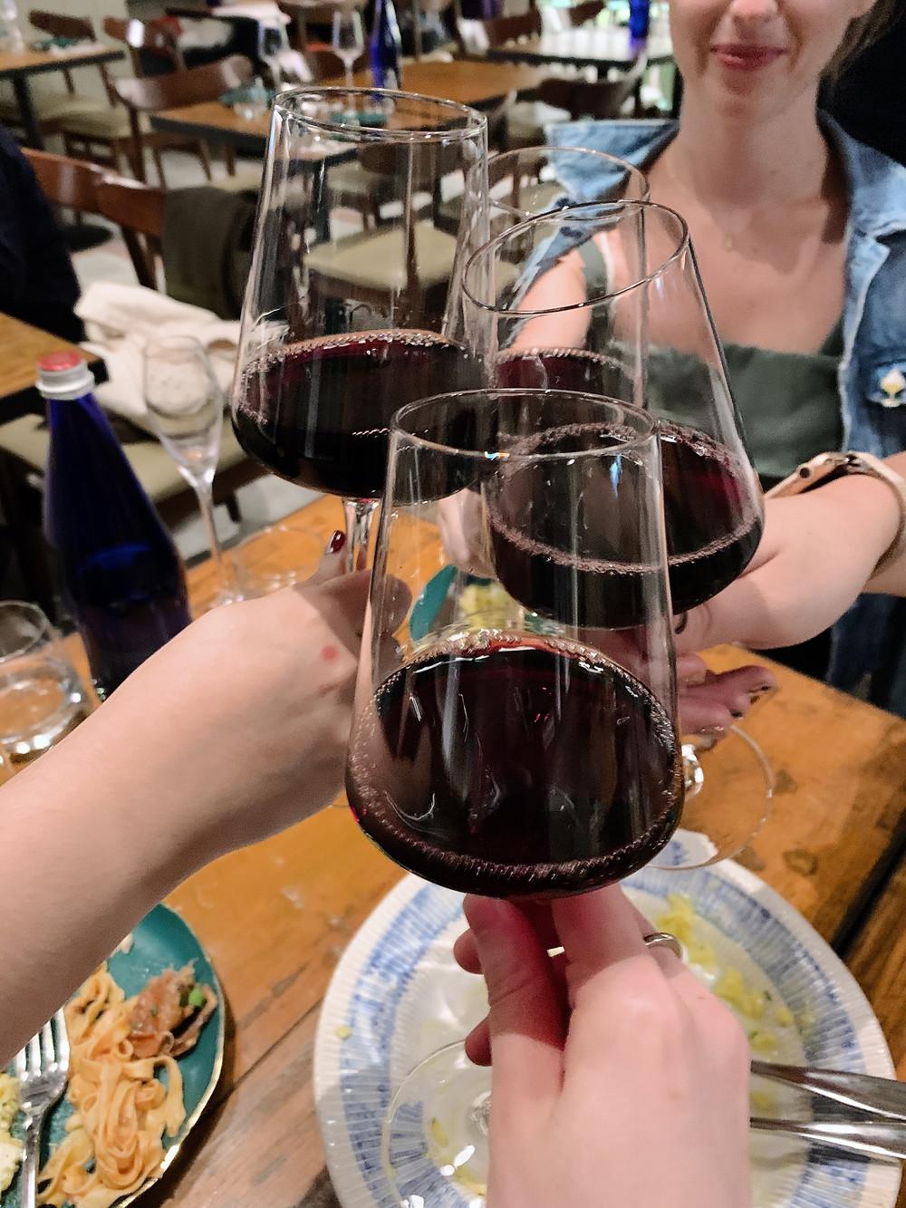 Wine at Etna Restaurant in Tin Hau Hong Kong