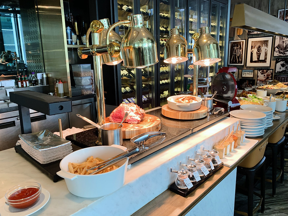 Food at Porterhouse restaurant in Hong Kong