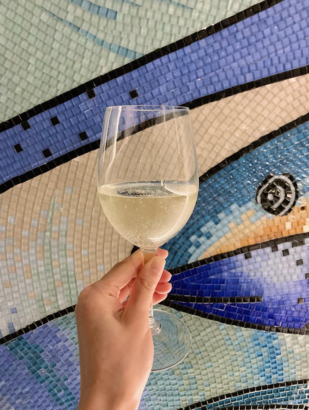Wine at Casa Lisboa Portuguese restaurant in Hong Kong
