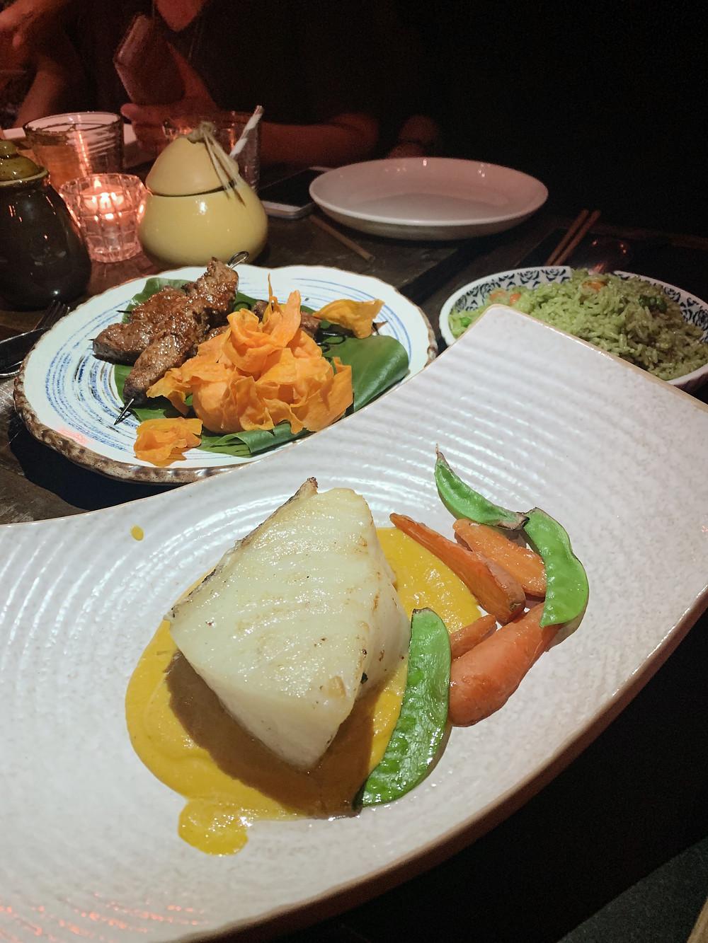 Food at TokyoLima restaurant in Hong Kong