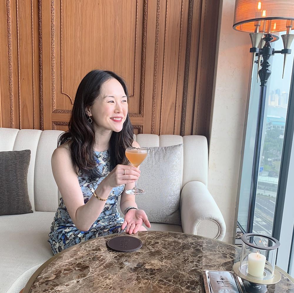 Jenni Lien food blogger at Caprice Bar Hong Kong Four Seasons