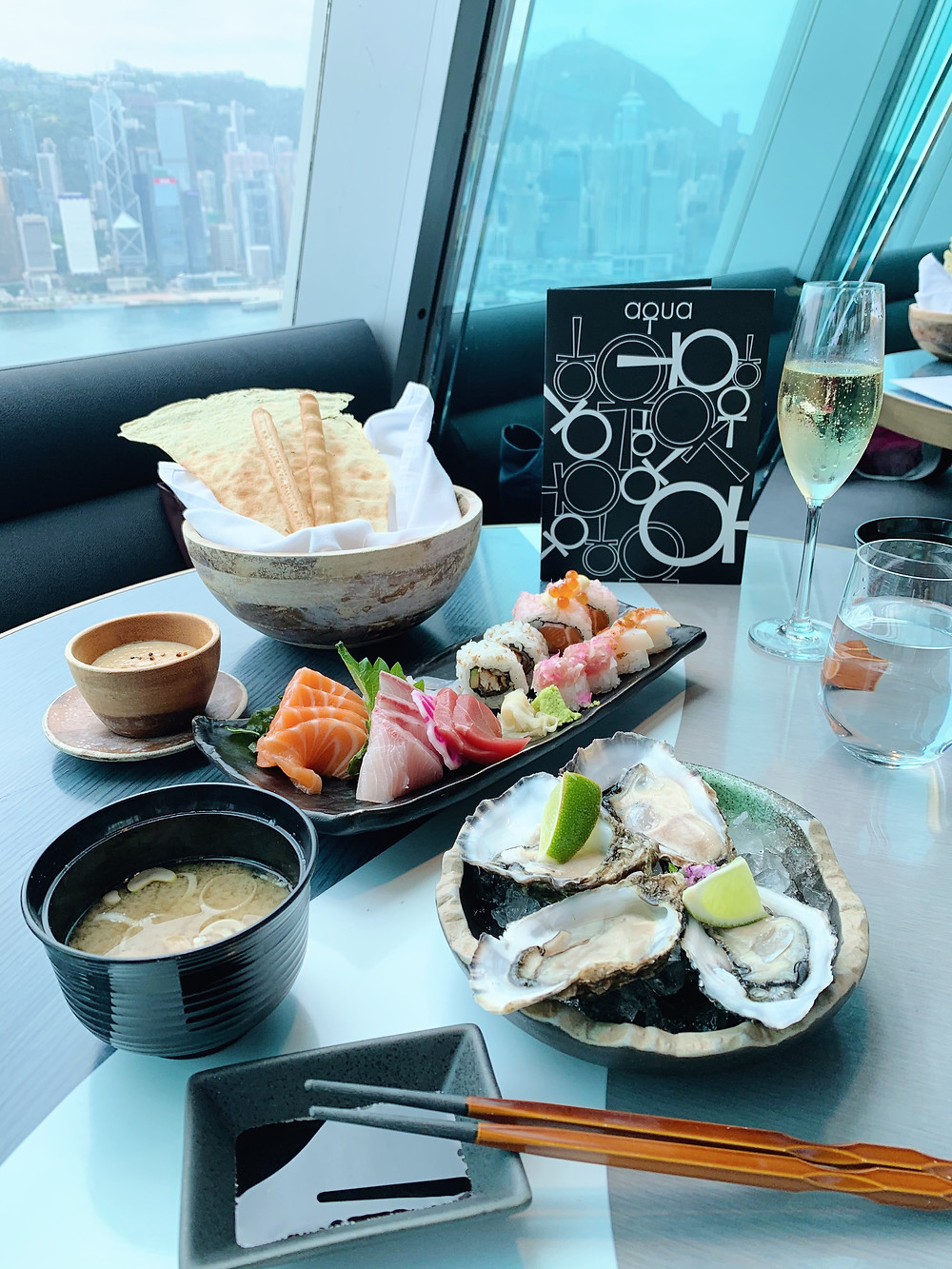 brunch at aqua restaurant in Hong Kong