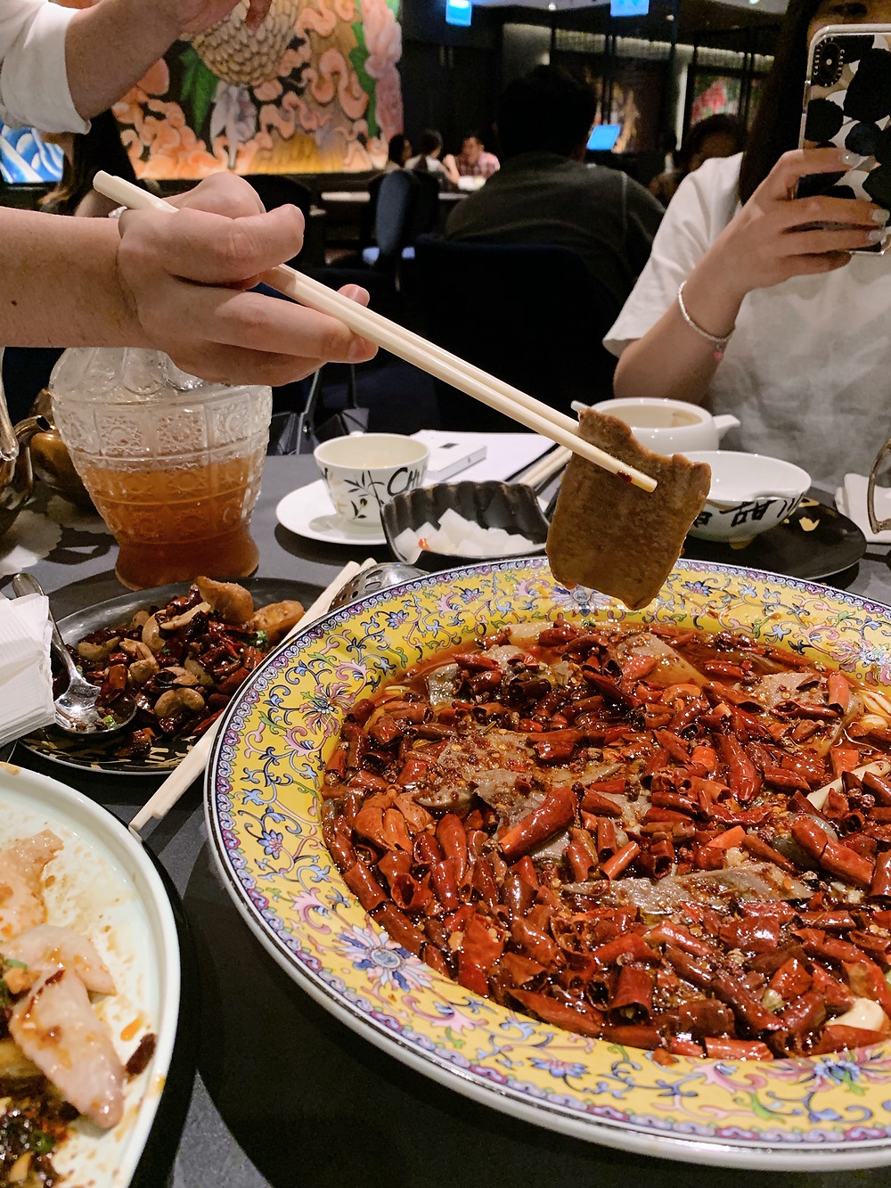 Food at Chuan Palace Sichuan restaurant at MOKO mall in Mongkok, Hong Kong