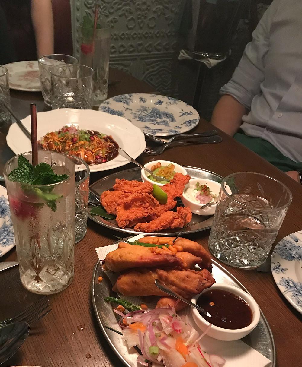 Food at New Punjab Club restaurant in Hong Kong
