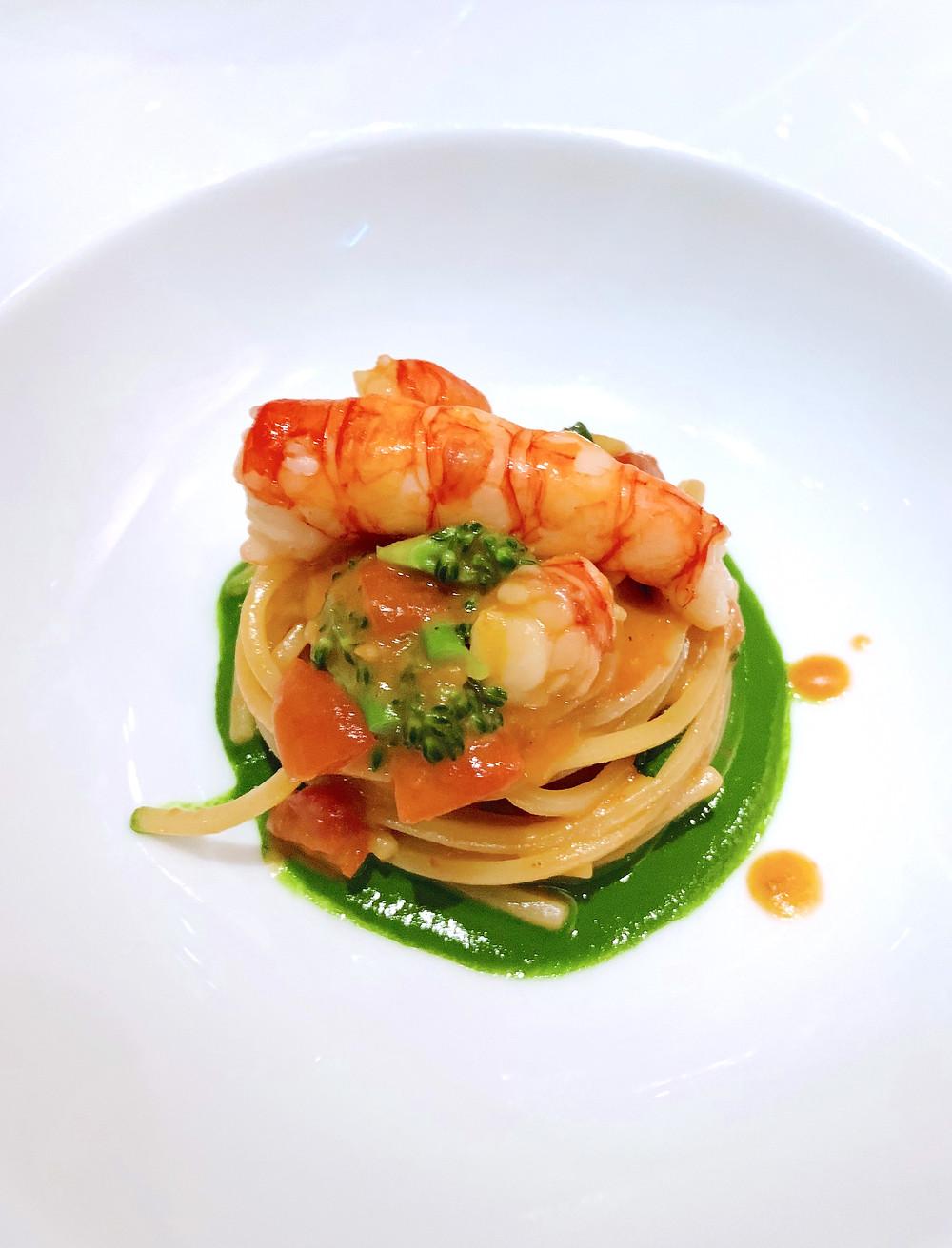 Food at Octavium Italian restaurant in Hong Kong