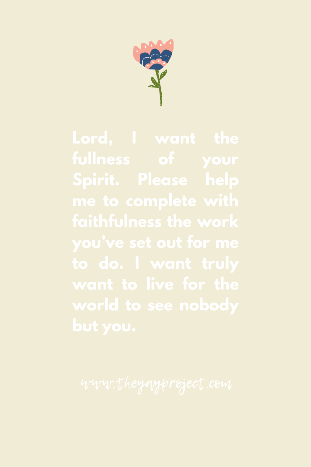 Christian prayer graphic by The Yay Project Jenni Lien
