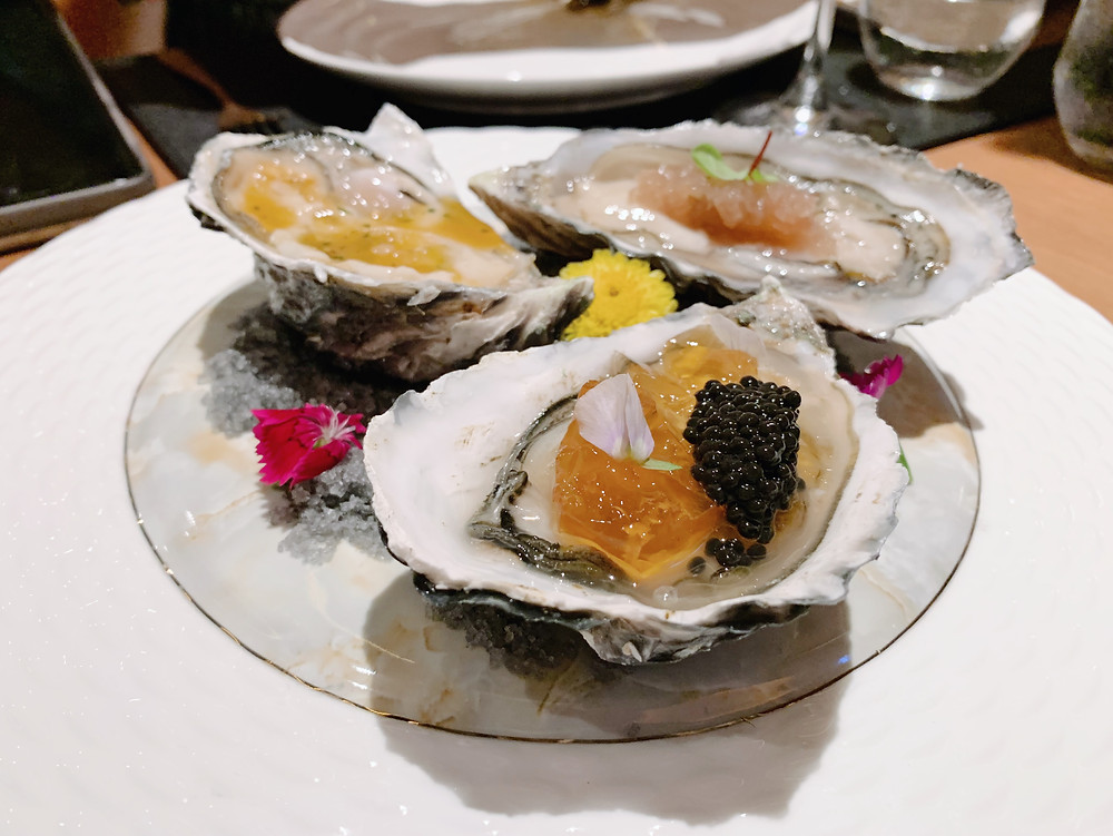 Oysters at 37 Steakhouse and Bar at The Peak in Hong Kong