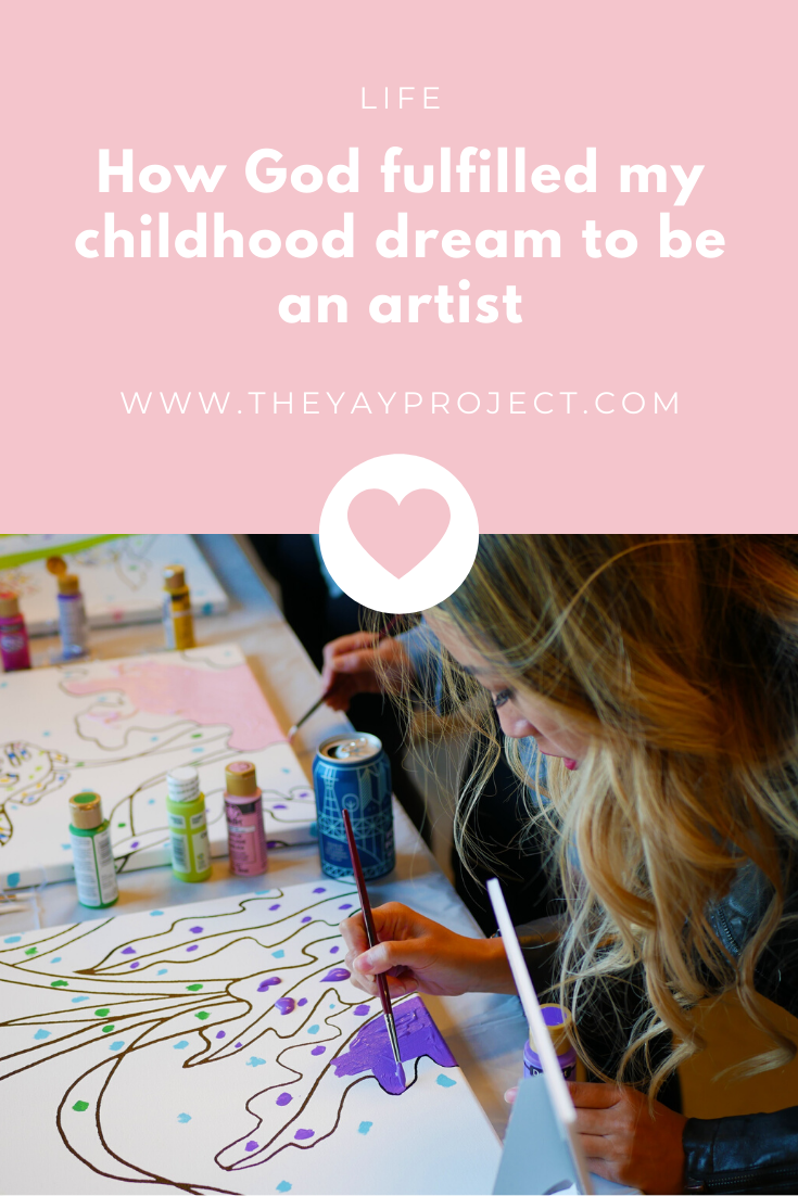 Christian blog graphic on creating with God artist by Jenni Lien of The Yay Project