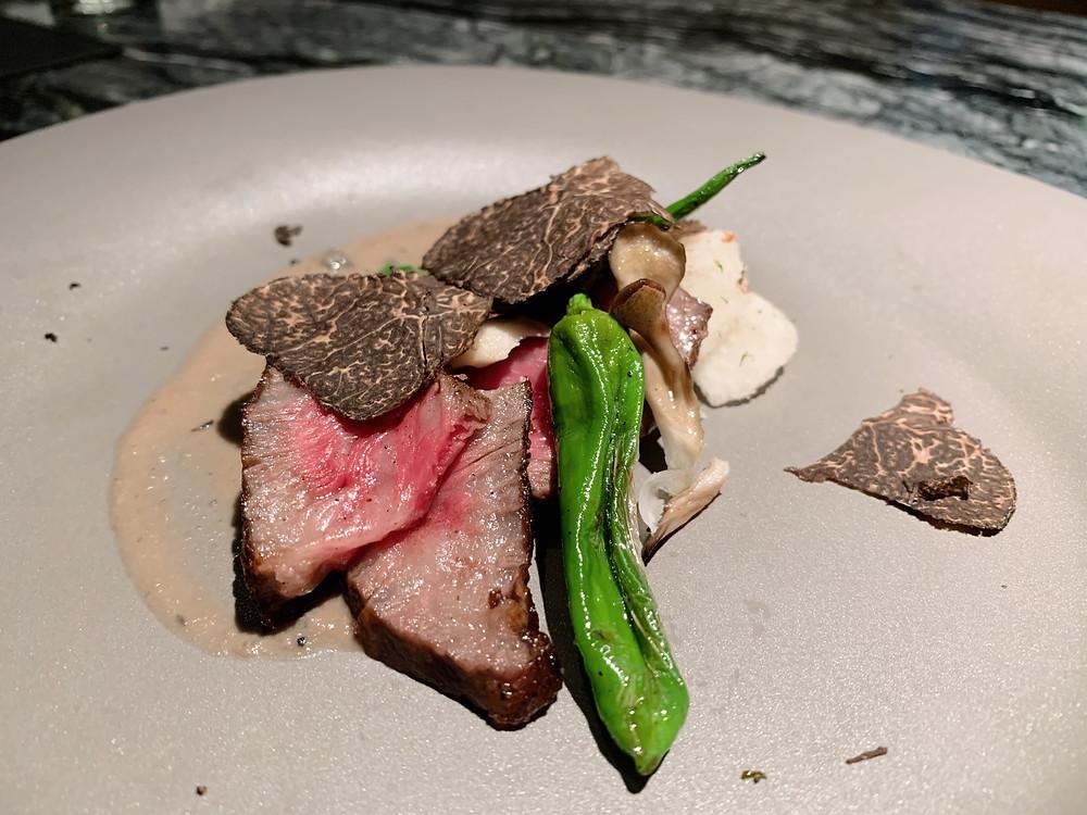 A4 Wagyu beef at Silencio Japanese restaurant in Hong Kong
