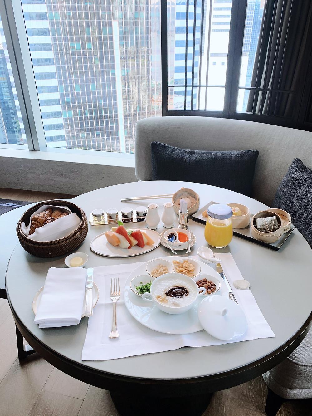 Breakfast at St Regis HK Hong Kong