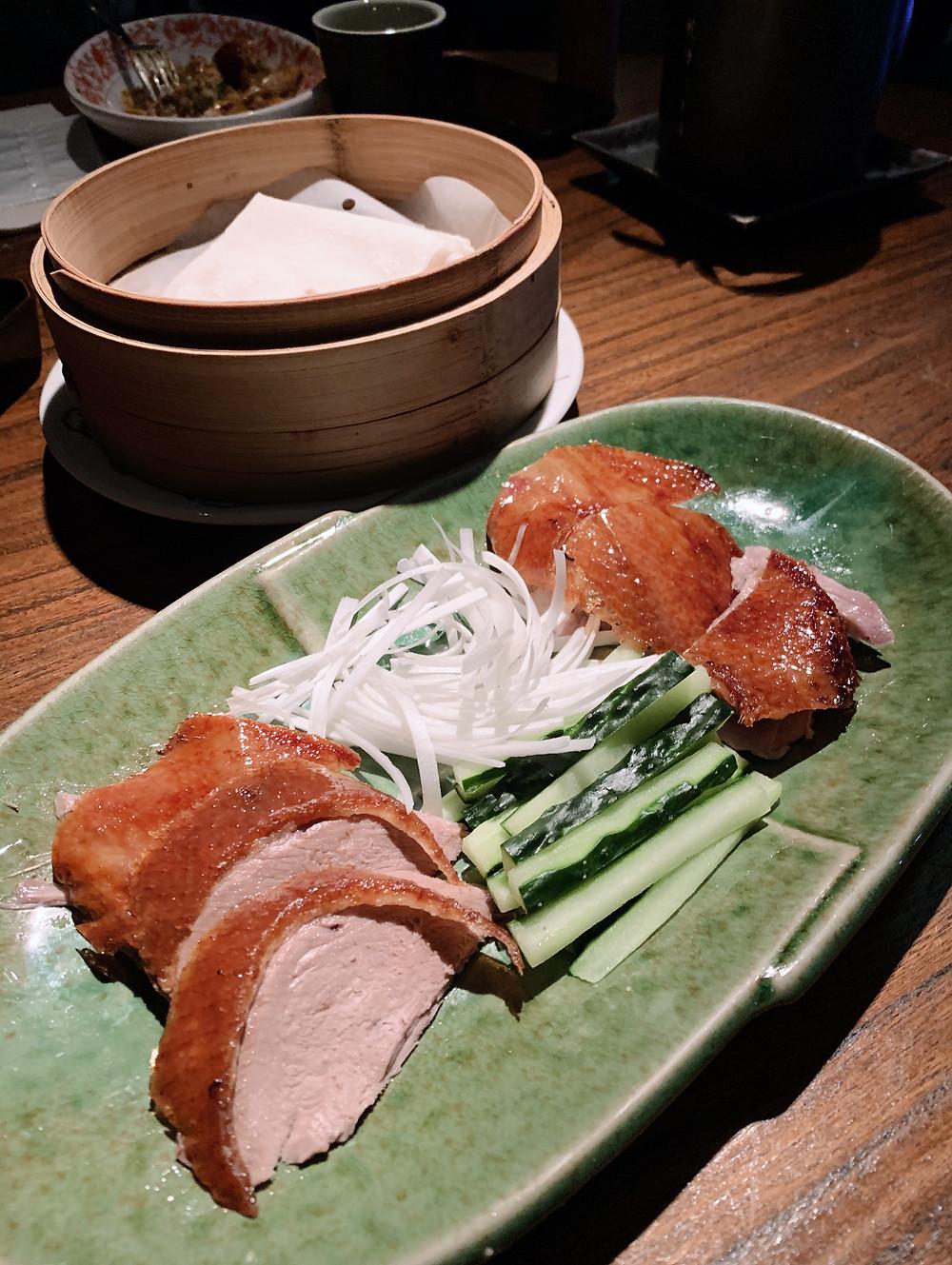 Duck at Hutong restaurant in Hong Kong