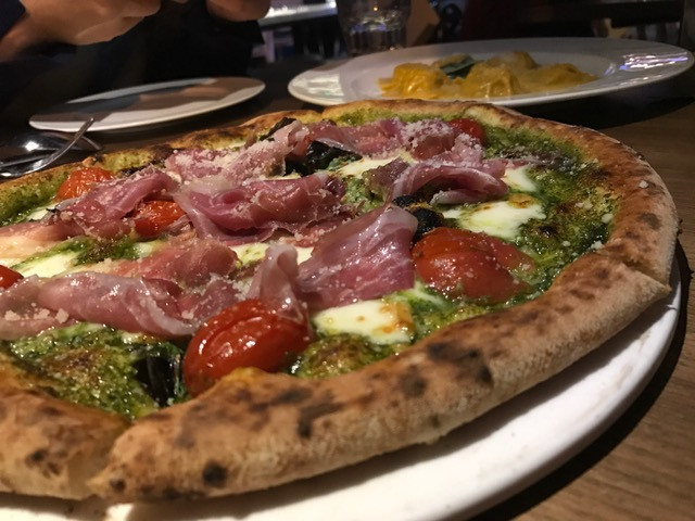 Pizza at Ciao Chow restaurant in Hong Kong