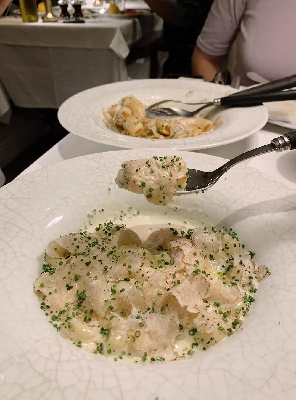 Gnocci at Interiors at La Petite Maison LPM Restaurant & Bar in Hong Kong