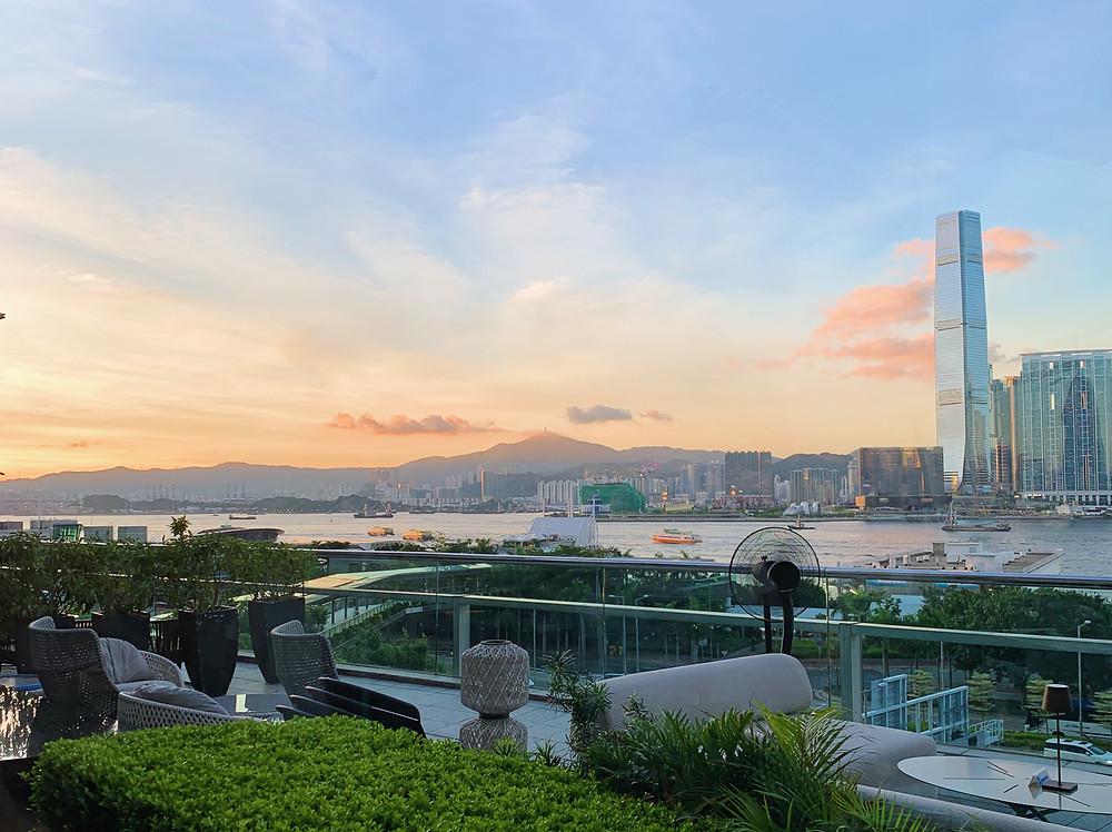 Sunset at La Rambla Hong Kong in IFC