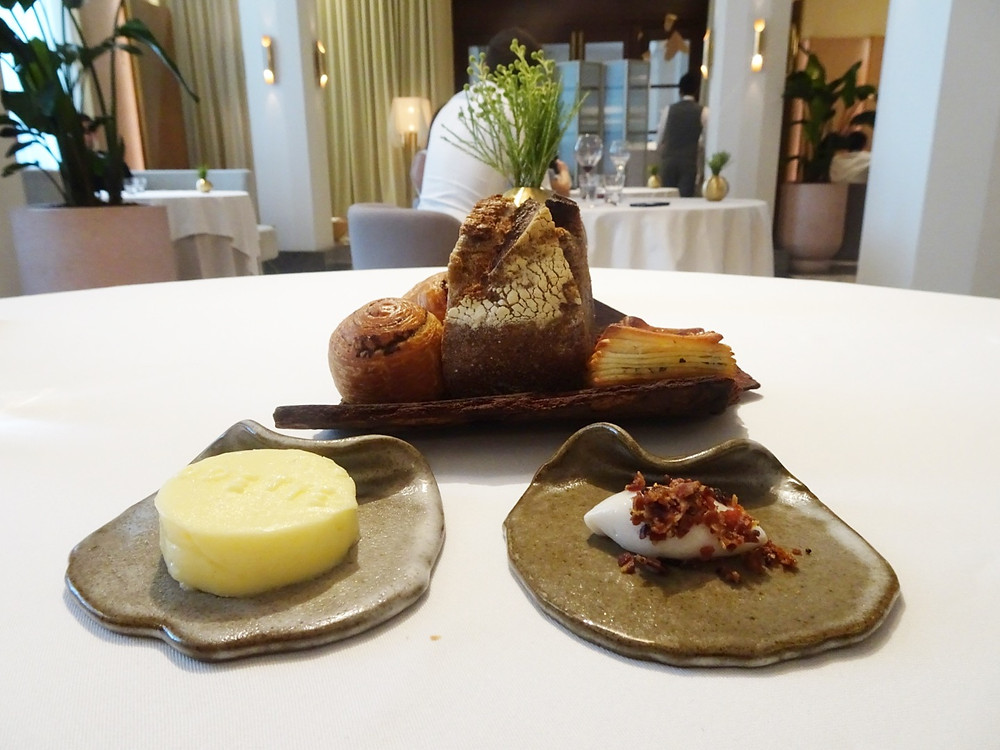 Food at Odette restaurant in Singapore
