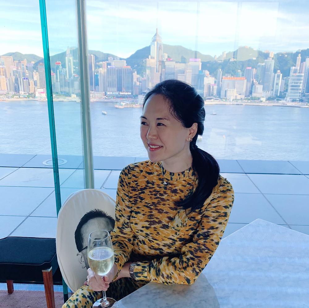 Jenni Lien Hong Kong blogger at Felix The Peninsula Hotel Hong Kong