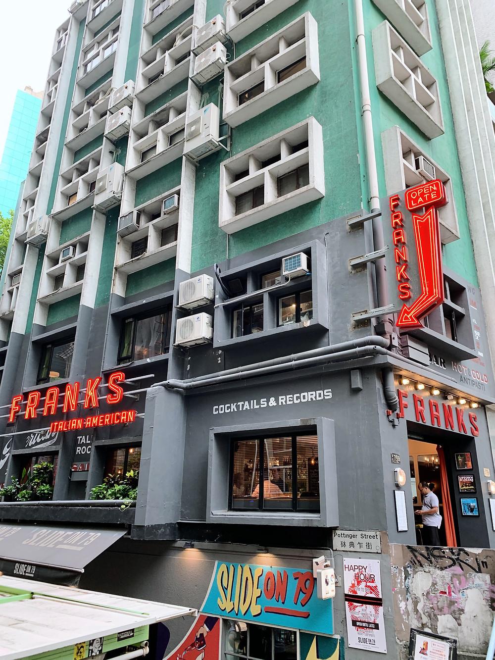 Franks Italian restaurant in Hong Kong