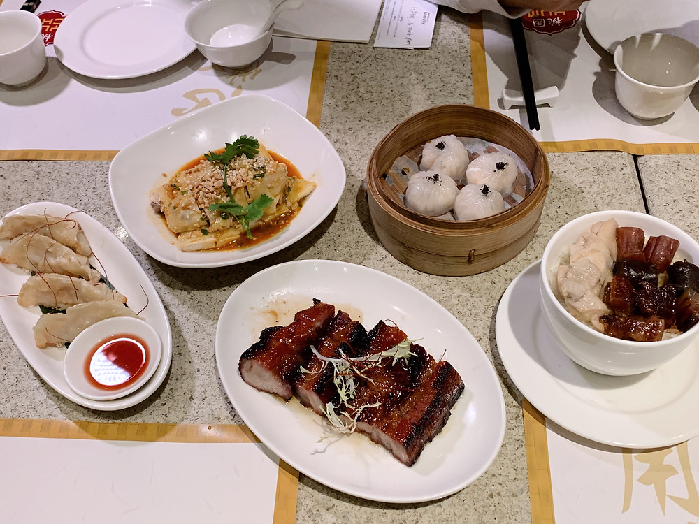 Food at the Sheraton Grand Hotel in Macao