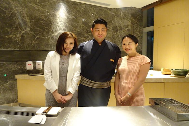 With Miya (PR) and Chef Fukuda.