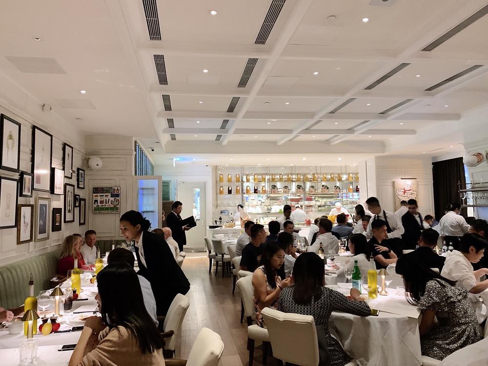 Interiors at La Petite Maison LPM Restaurant & Bar in Hong Kong