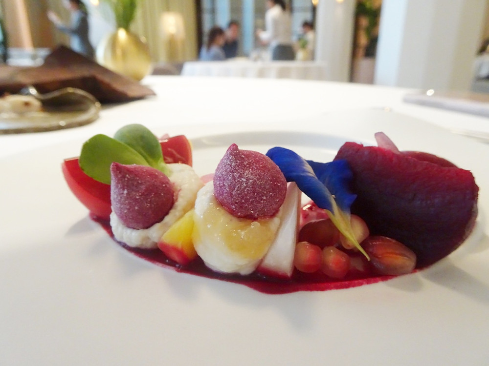 Food at Odette restaurant by Julien Royer in Singapore