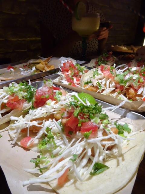 Food at Agave Mexican restaurant in Hong Kong