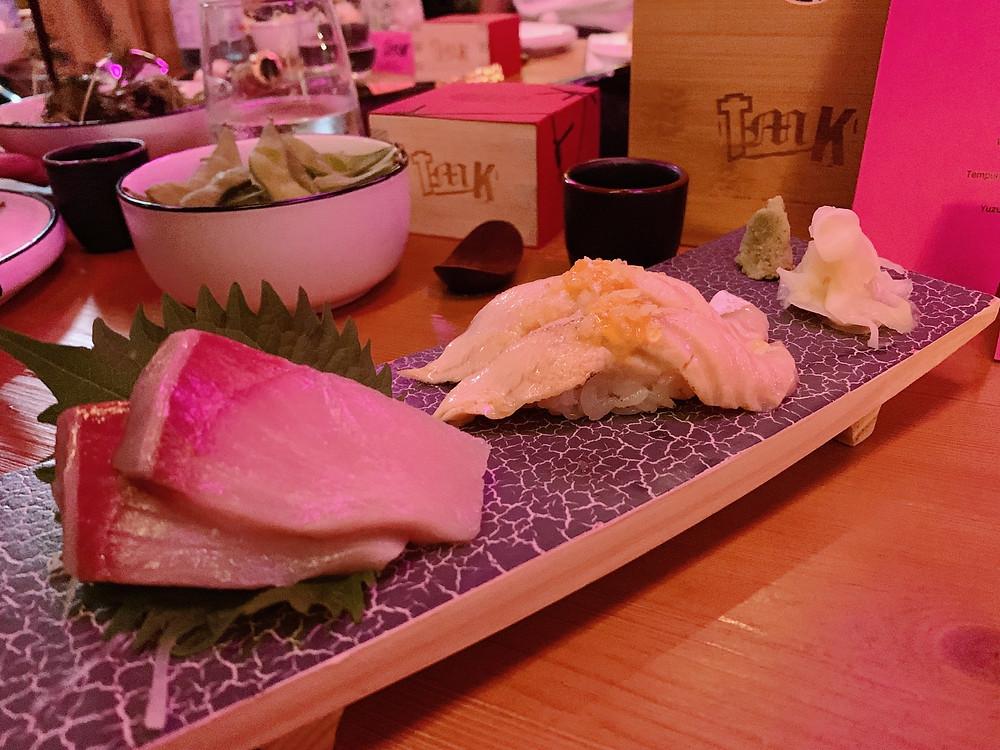 Sushi at TMK Japanese sushi restaurant in Hong Kong