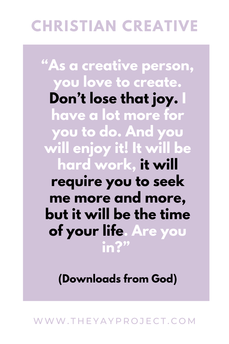 Christian blog graphic on prayer, joy, hard work by The Yay Project