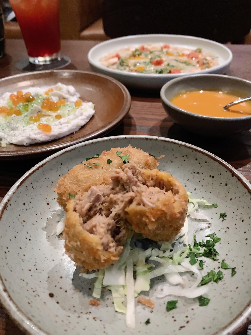 Food at Mr Brown grill restaurant in Hong Kong