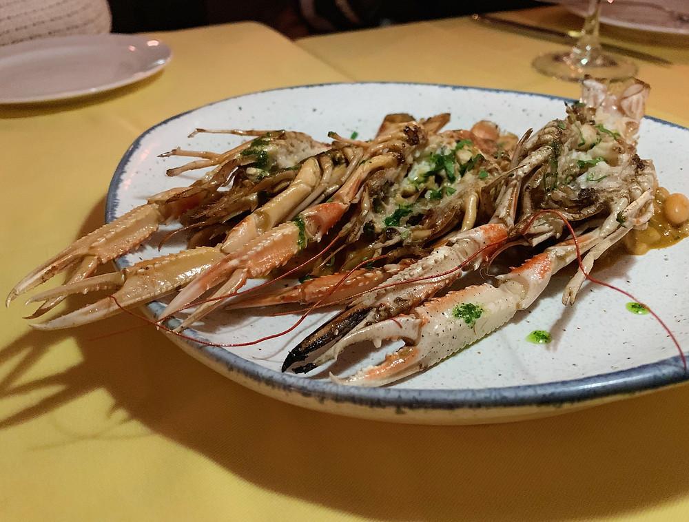 Food at Ole Spanish restaurant in Hong Kong