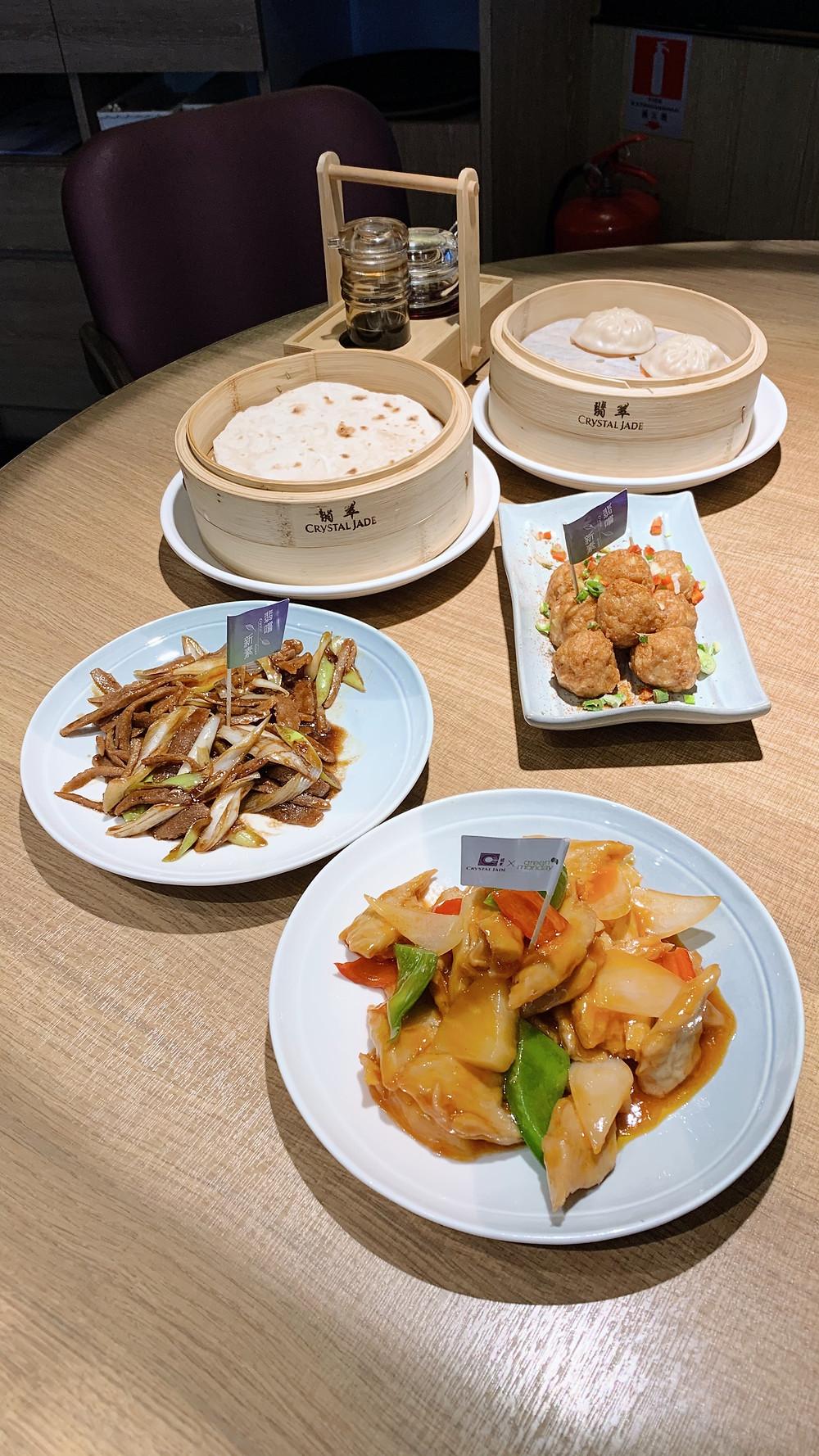 Food at Crystal Jade La Mian Xiao Long Bao
