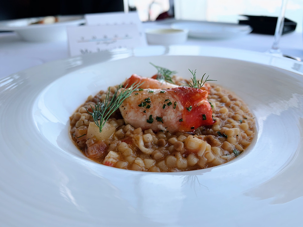 Food at Tosca restaurant, Ritz-Carlton Hotel, Hong Kong