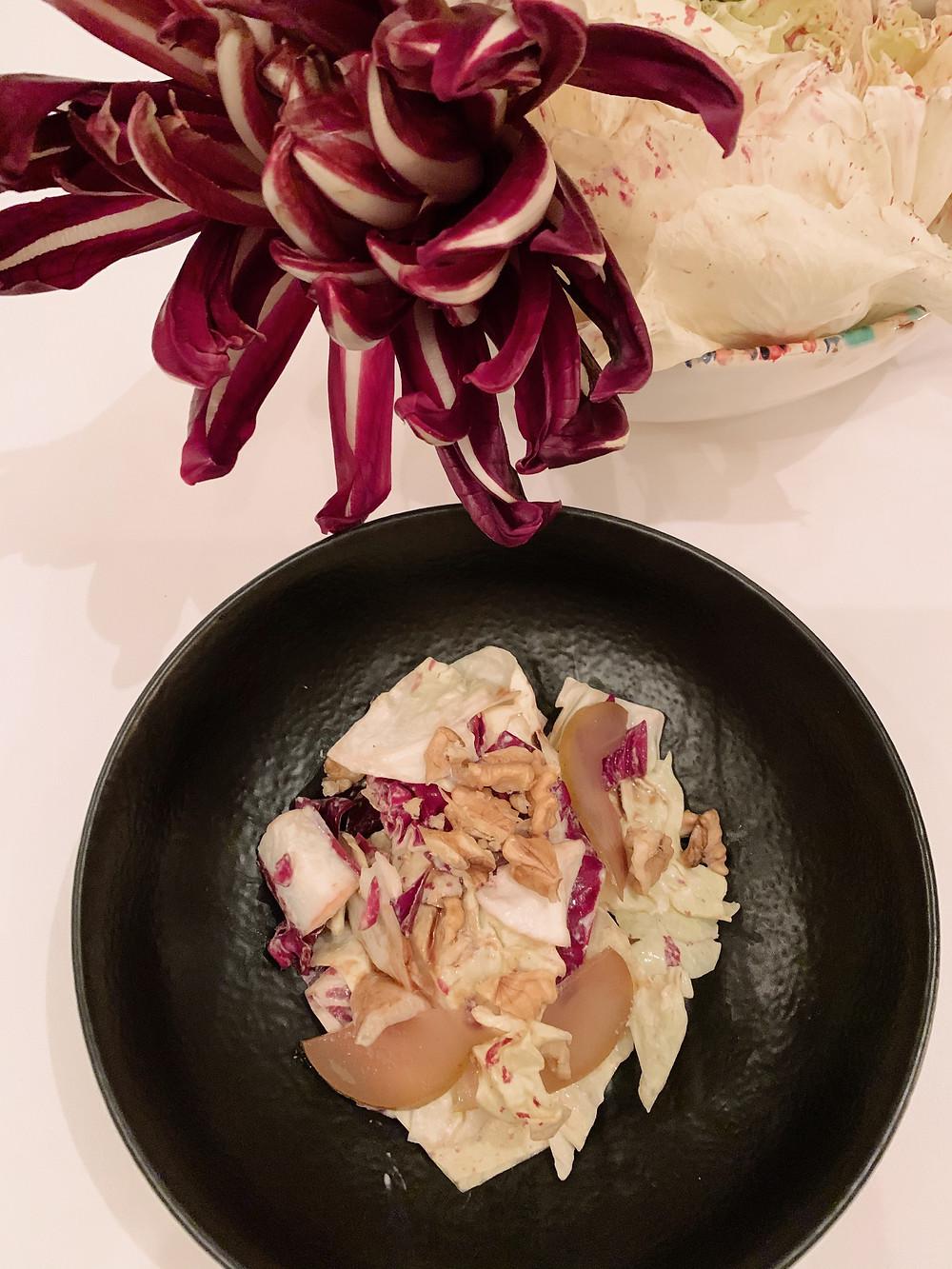 Salad at Giando Italian restaurant in Hong Kong