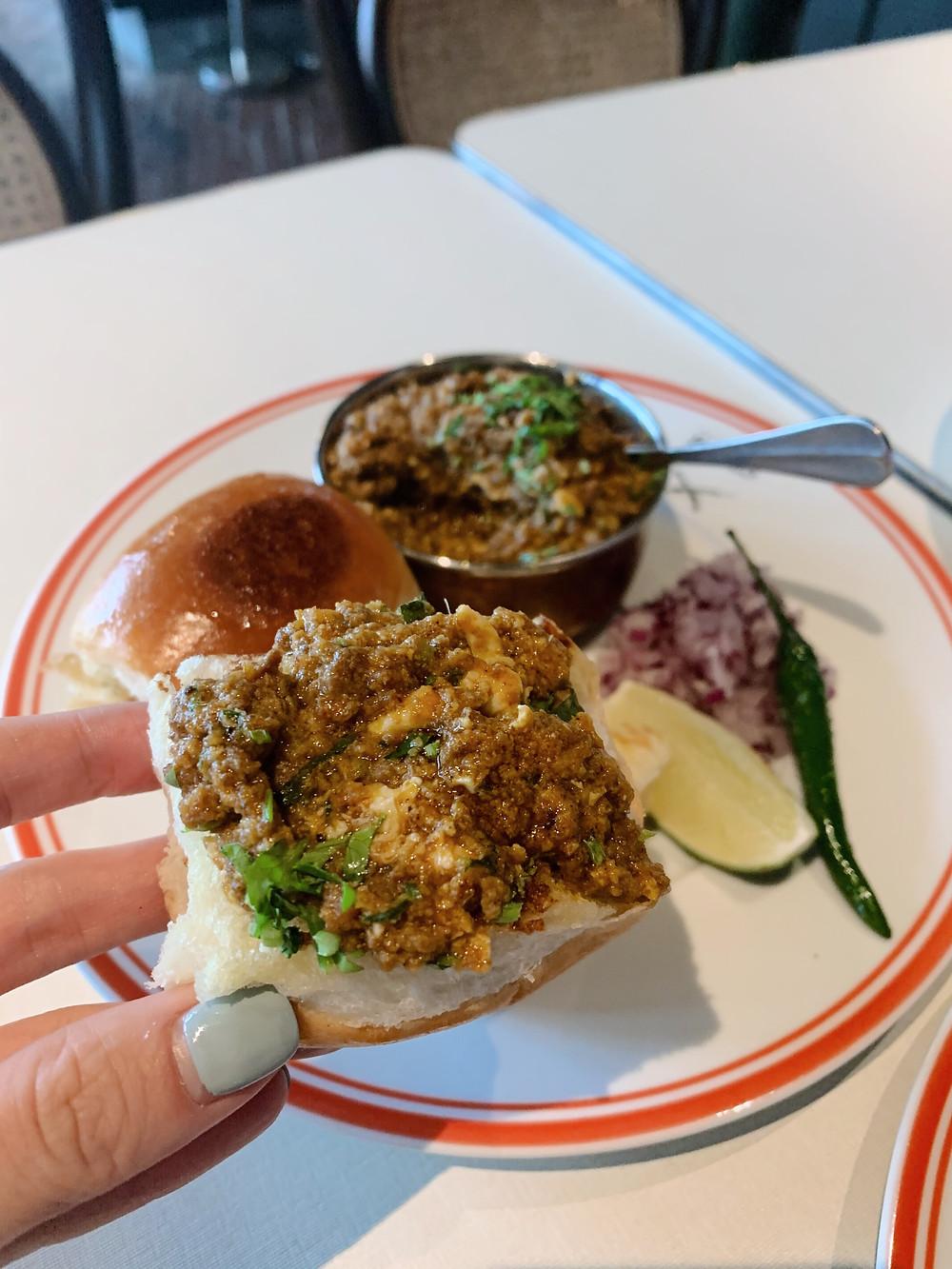 Food at Rajasthan Rifles restaurant in Hong Kong