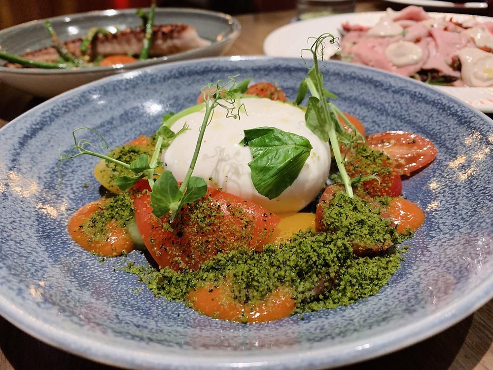 Burrata at Fiamma Hong Kong