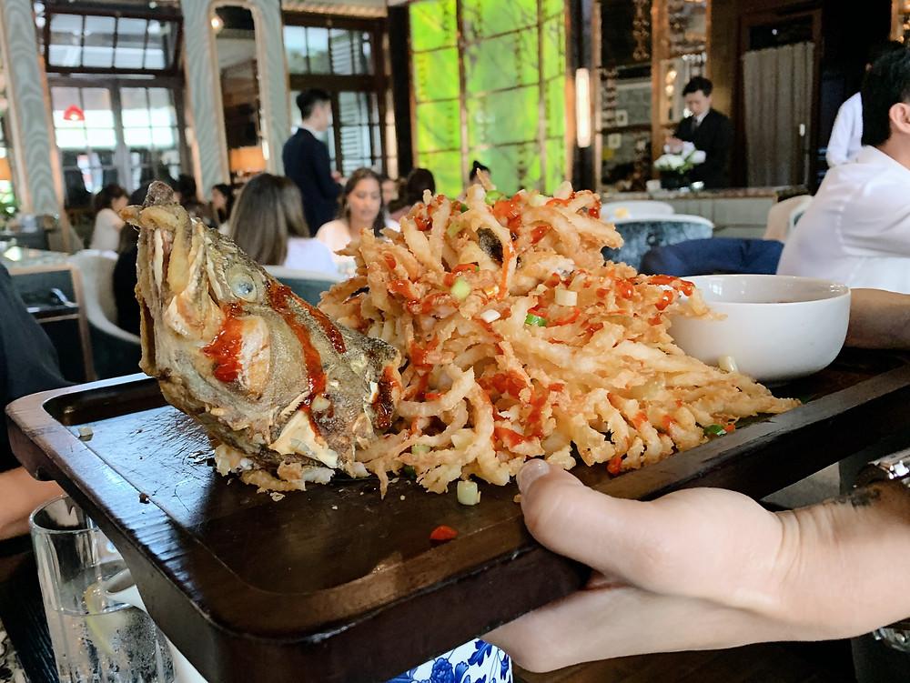 Food at The Chinese Library restaurant in Tai Kwun, Hong Kong