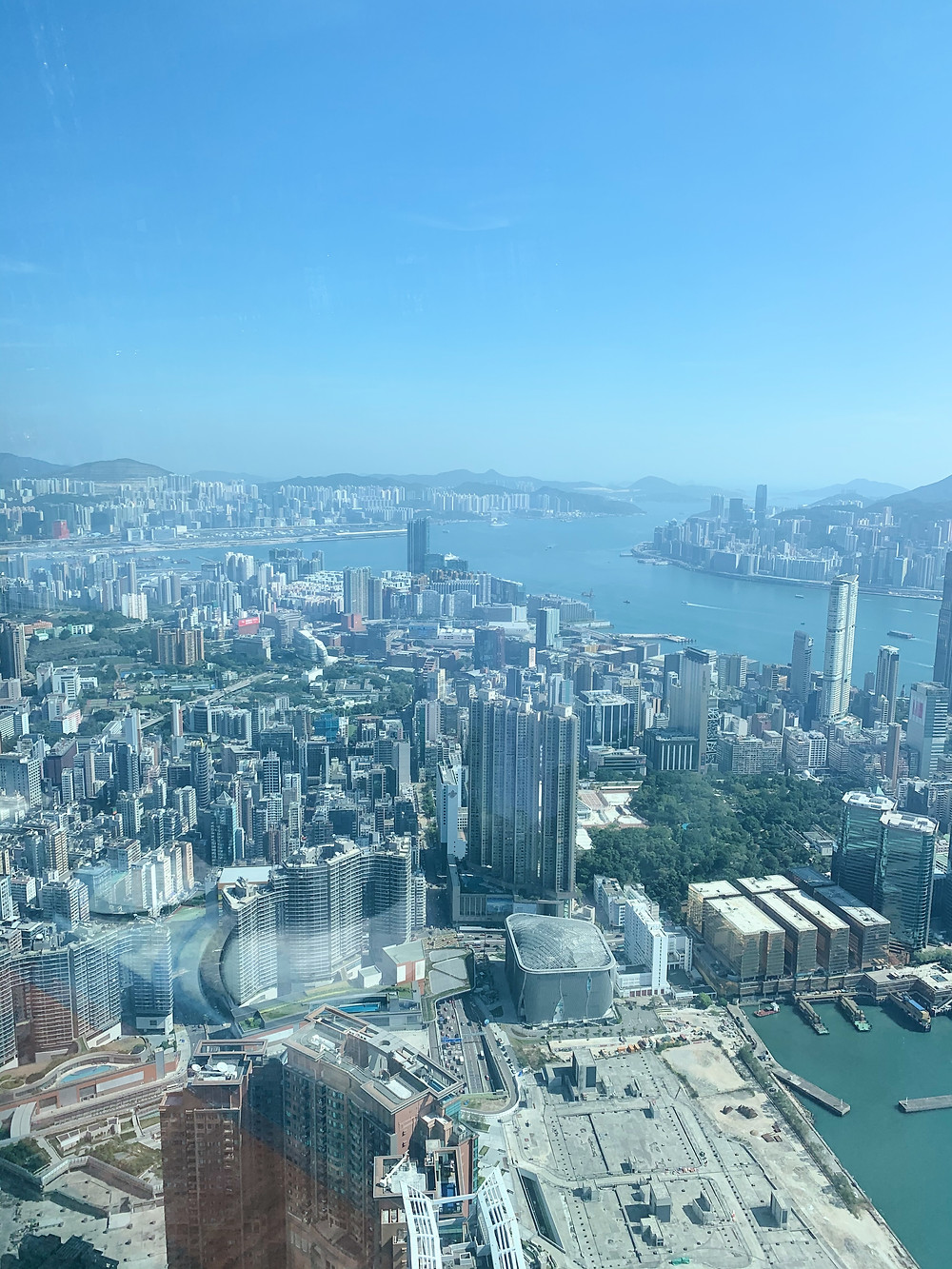 View from Tosca restaurant, Ritz-Carlton Hotel, Hong Kong
