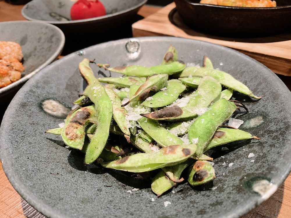 Edamame at Chako restaurant in Hong Kong