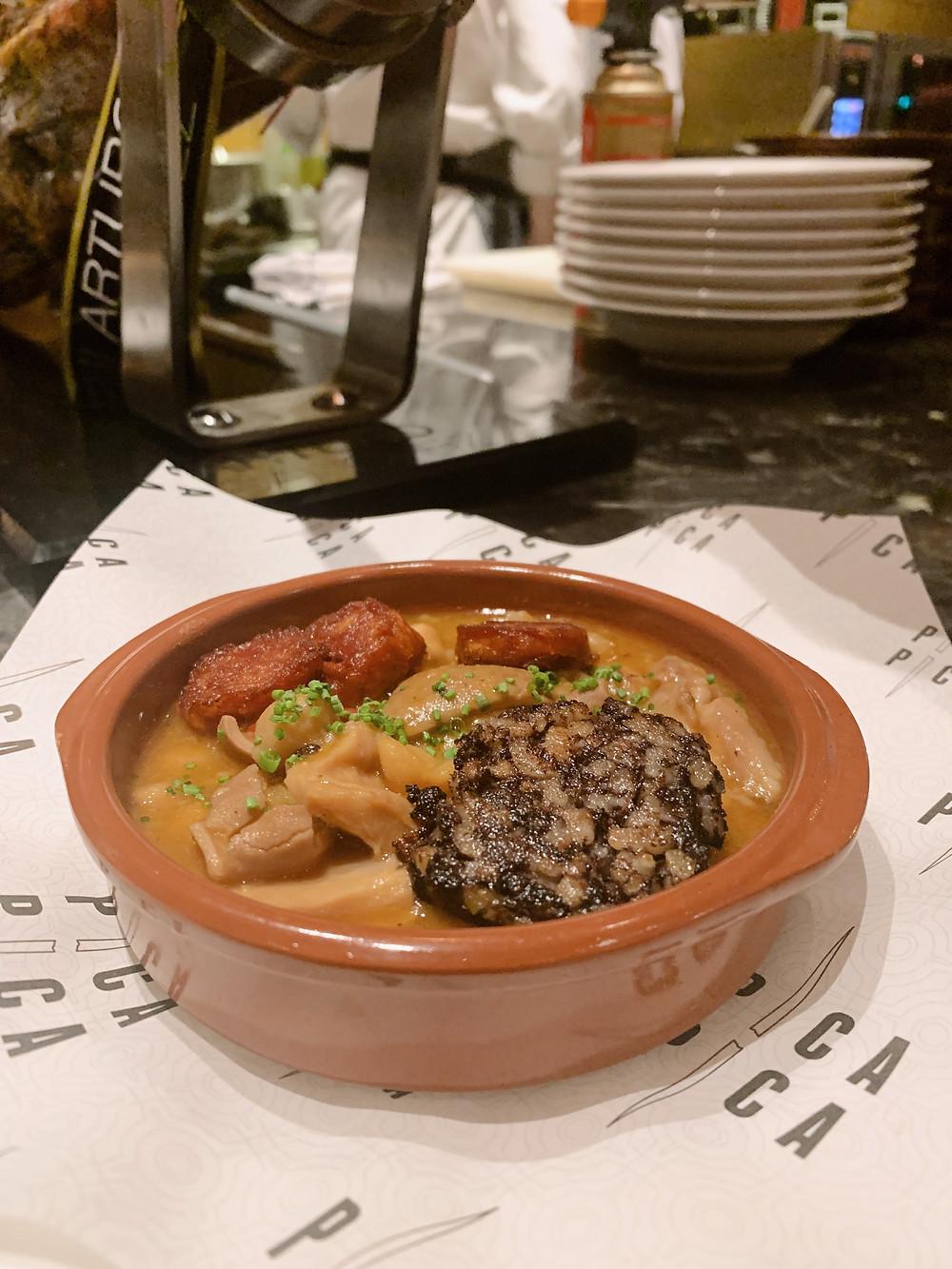 Food at Pica Pica restaurant in Hong Kong