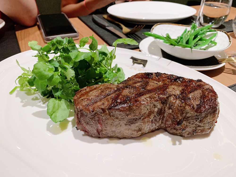 Steak at 37 Steakhouse and Bar at The Peak in Hong Kong